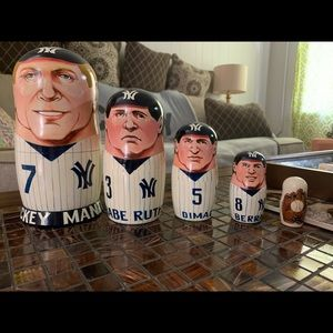 RARE New York Yankees Collectible Nesting Dolls